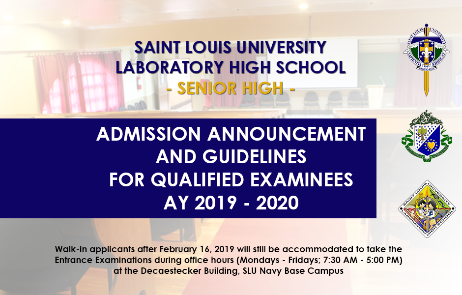 Senior High School Admission – Saint Louis University